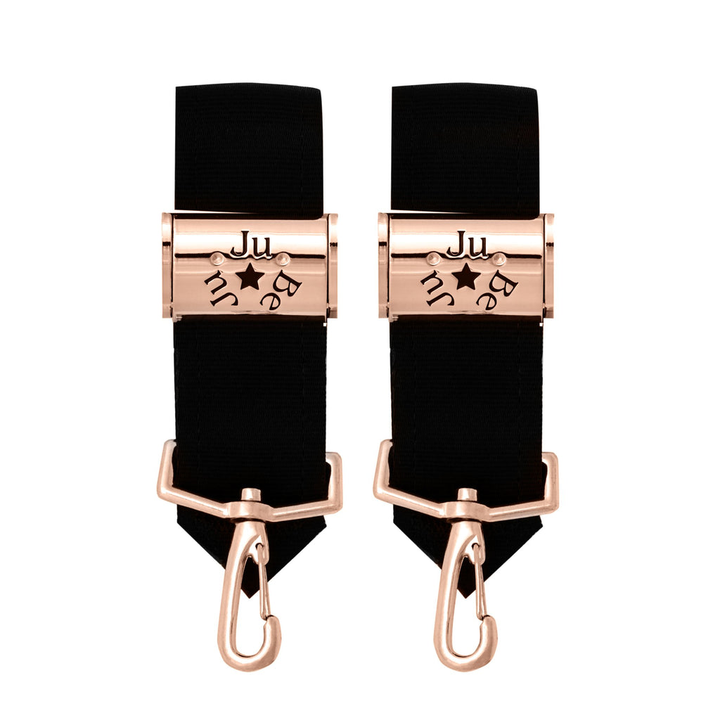 Ju-Ju-Be Rose Gold Be Connected stroller clips *