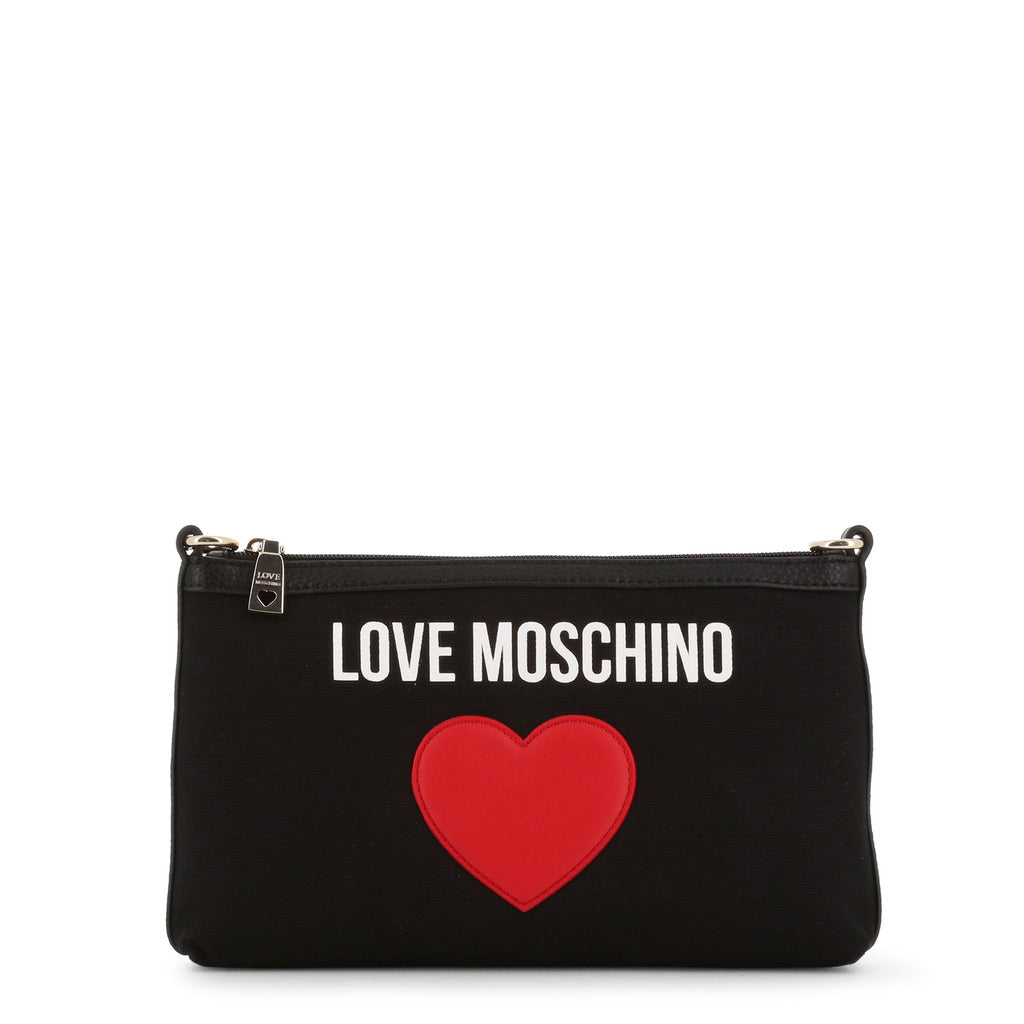 Love Moschino Patched Heart Shoulder Bag