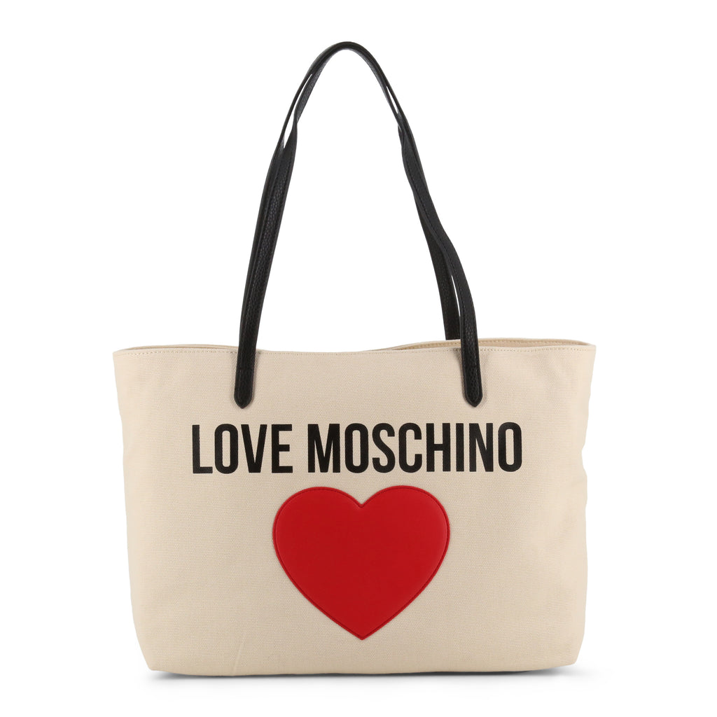 Love Moschino Canvas Shopper With Heart