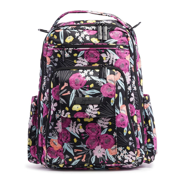 Ju-Ju-Be Onyx Be Right Back changing backpack Black and Bloom *