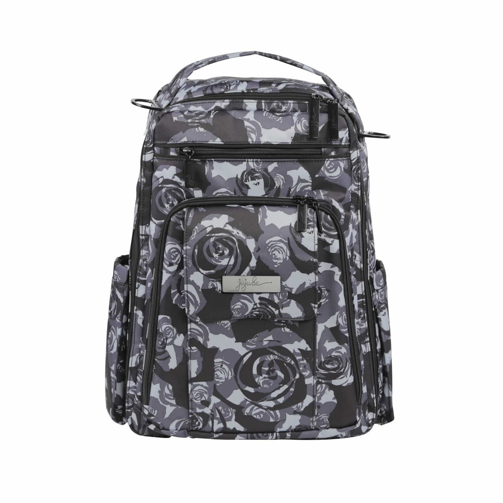 Ju-Ju-Be Onyx Be Right Back changing backpack Black Petals *