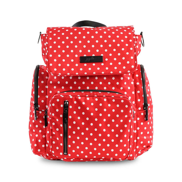 Ju-Ju-Be Onyx Be Sporty diaper backpack in Black Ruby