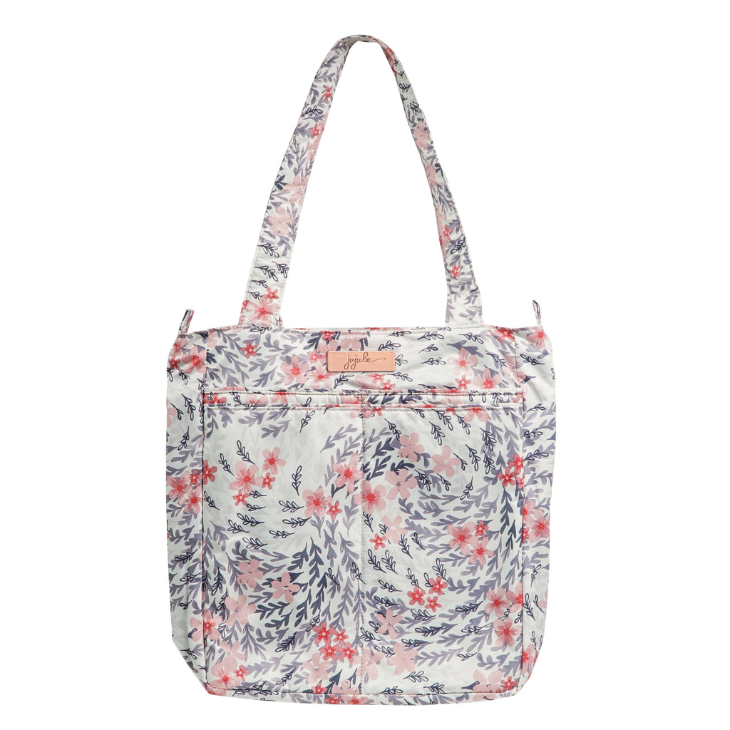 Ju-Ju-Be Rose Gold Be Light changing bag in Sakura Swirl with Pink Lining
