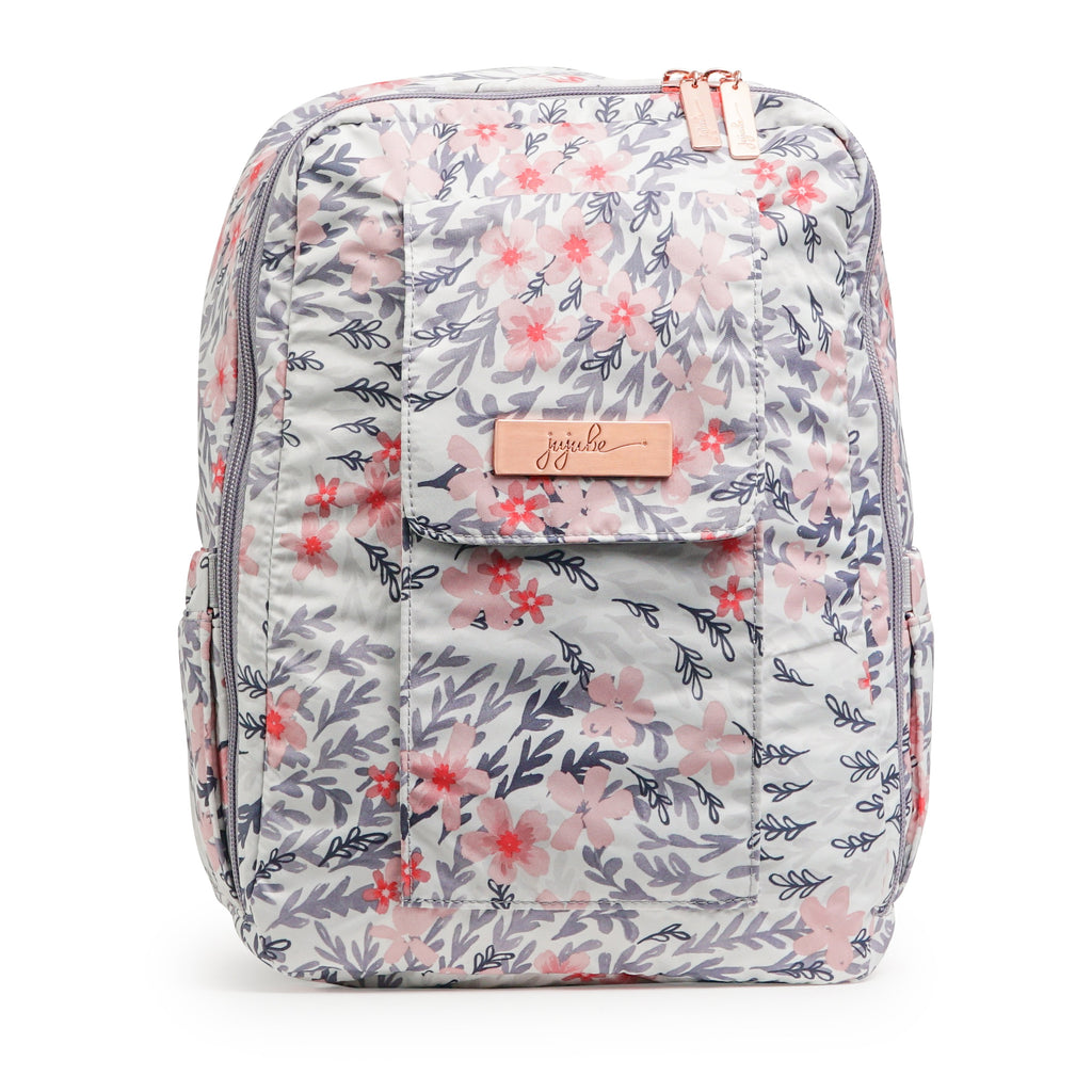 Ju-Ju-Be Rose Gold Mini Be backpack in Sakura Swirl with Pink Lining