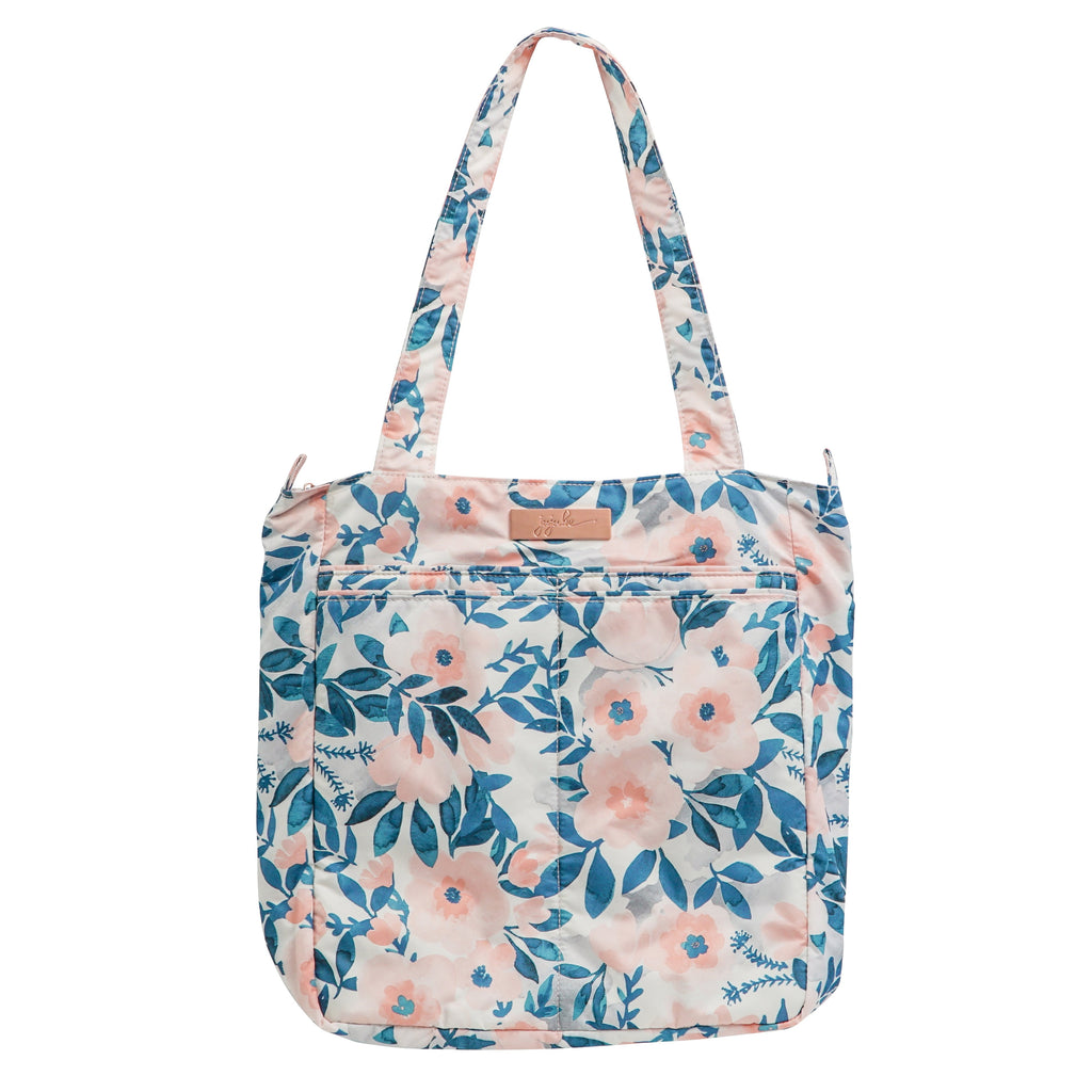 Ju-Ju-Be Rose Gold Be Light changing bag in Whimsical Watercolor with Pink Lining