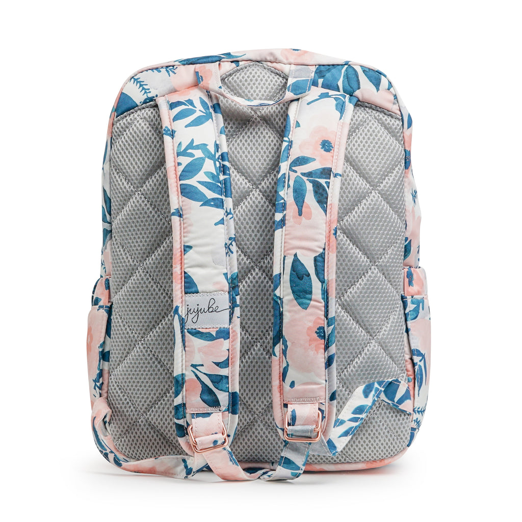 Ju-Ju-Be Rose Gold Mini Be backpack in Whimsical Watercolor with Pink Lining *