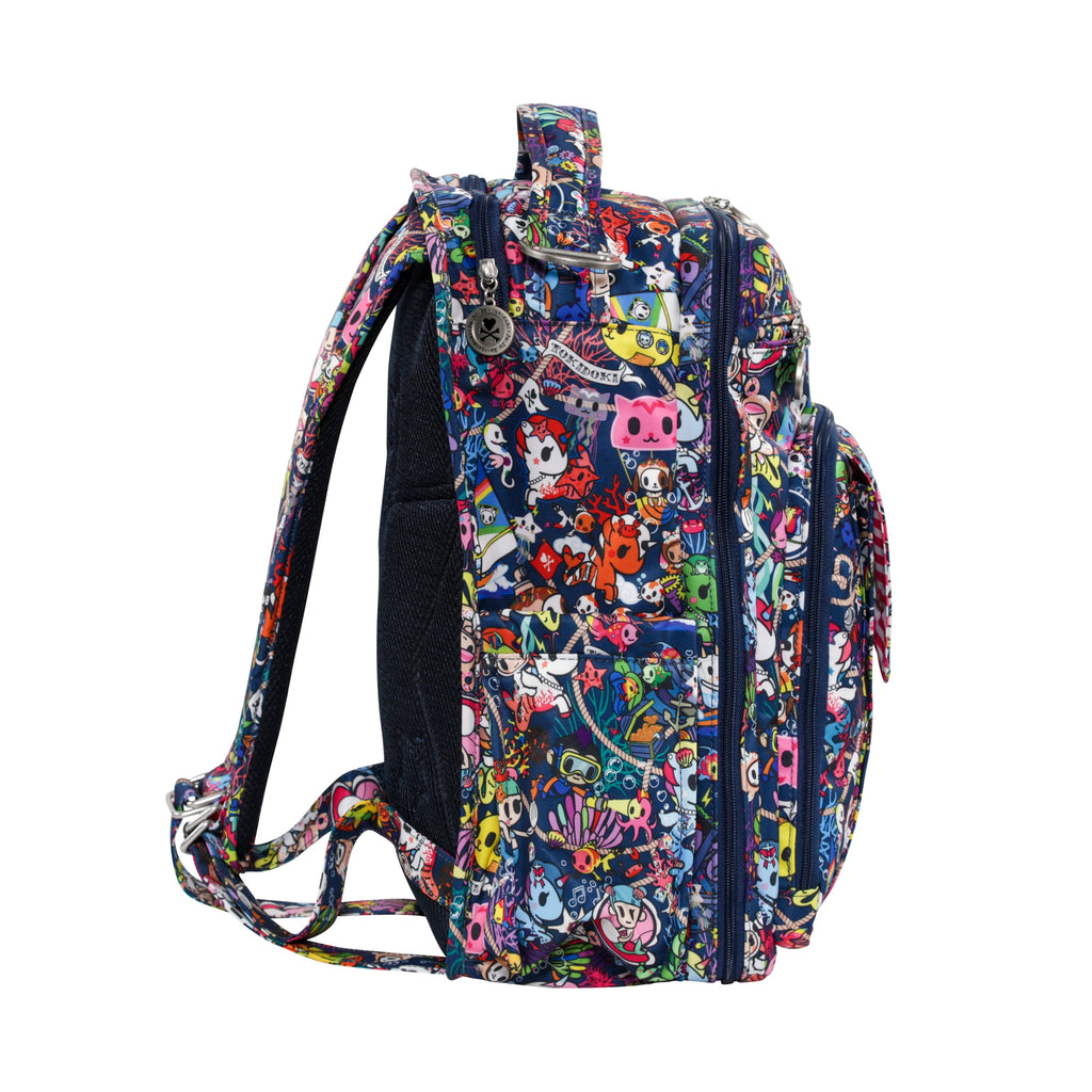 OUTLET - Ju-Ju-Be x Tokidoki Be Right Back diaper backpack in Sea Punk