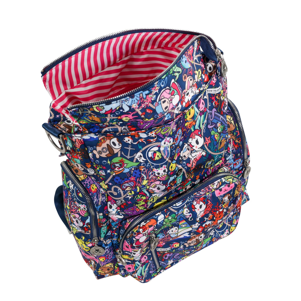OUTLET - Ju-Ju-Be x Tokidoki Be Sporty diaper backpack in Sea Punk