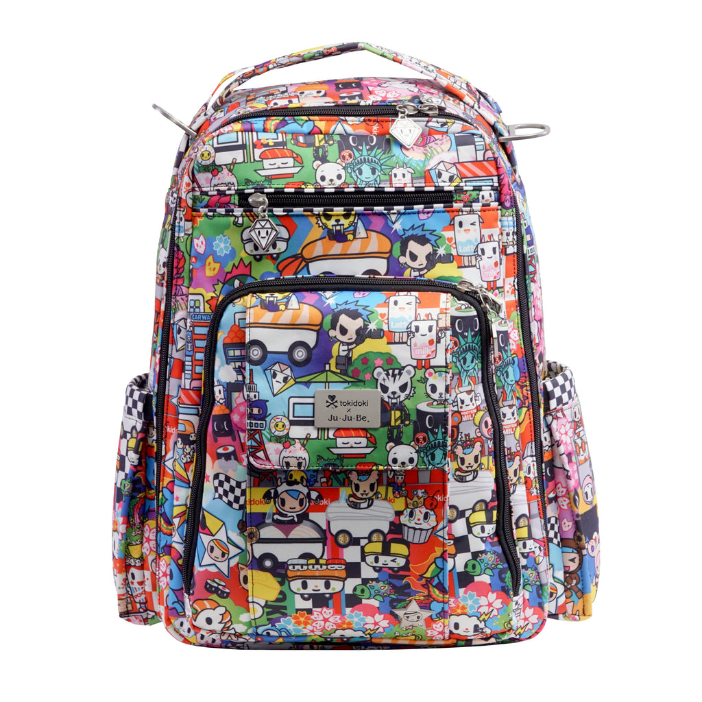 OUTLET - Ju-Ju-Be x Tokidoki Be Right Back diaper backpack in Sushi Cars