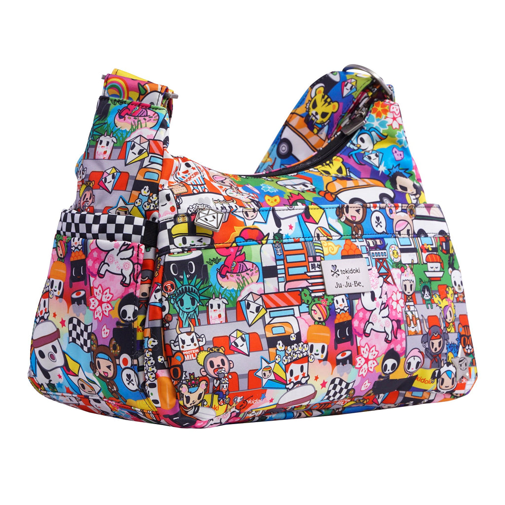 Ju-Ju-Be x tokidoki HoboBe diaper bag in Sushi Cars *