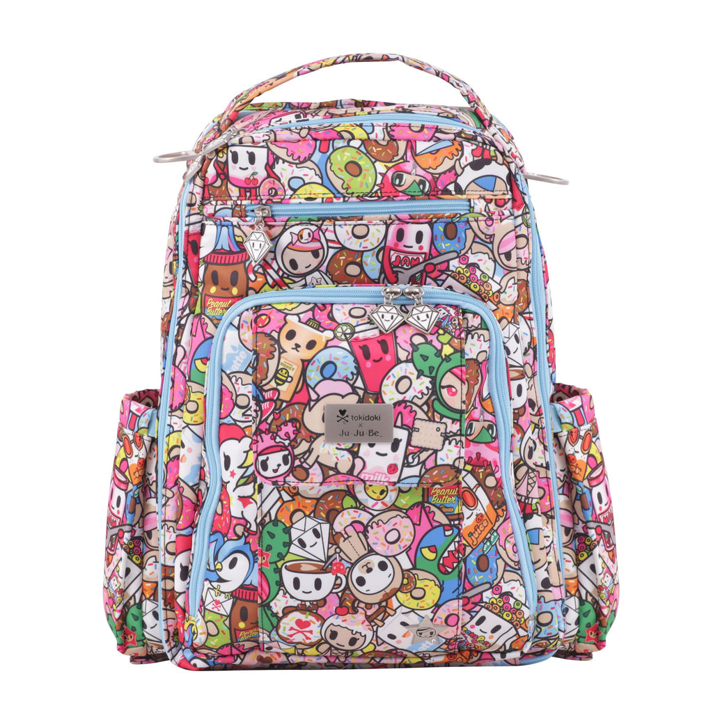 Ju-Ju-Be x Tokidoki Be Right Back diaper backpack in Tokipops *