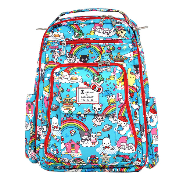 tokidoki for Hello Sanrio by Ju-Ju-Be Be Right Back changing backpack Rainbow Dreams *