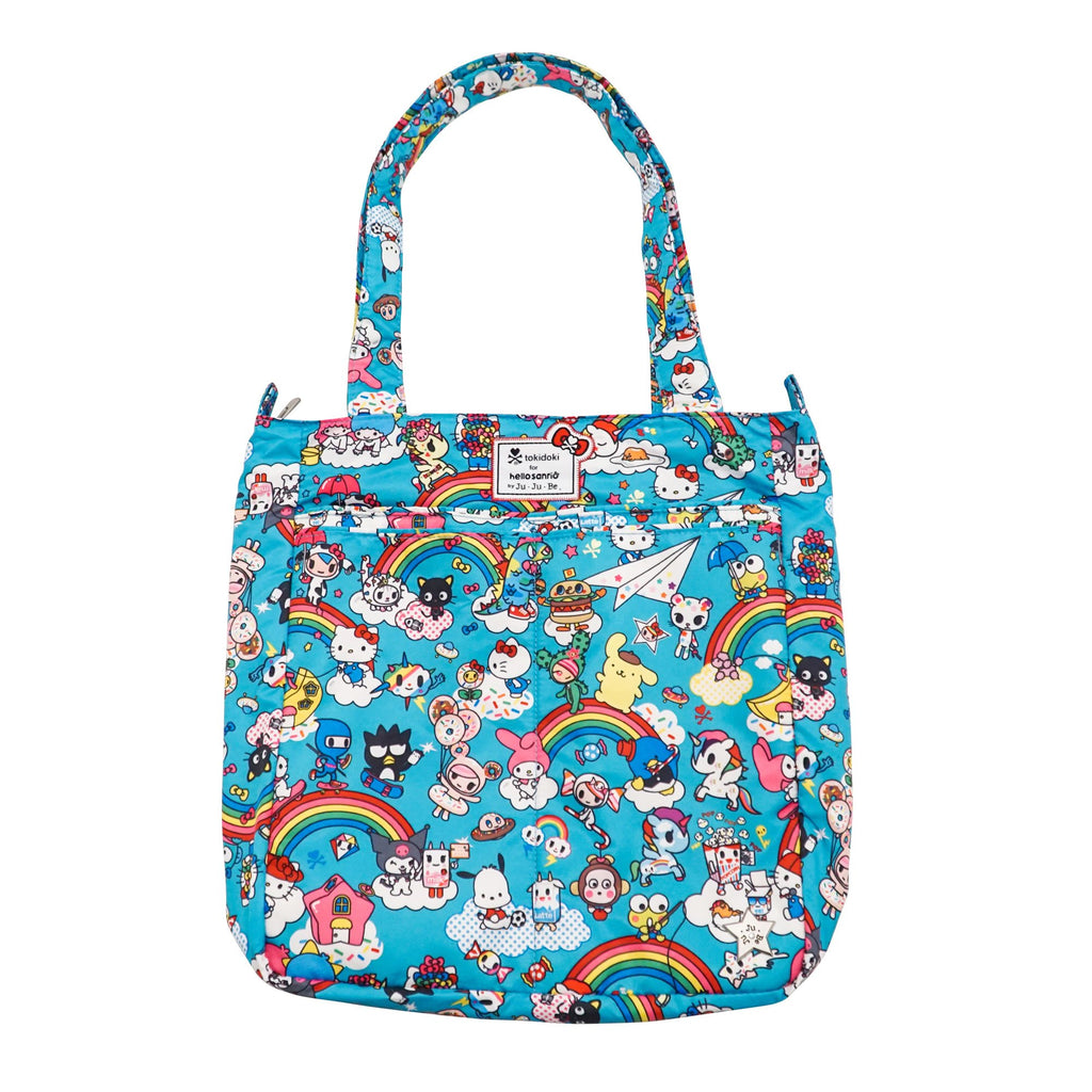 tokidoki for Hello Sanrio by Ju-Ju-Be Be Light changing bag in Rainbow Dreams *