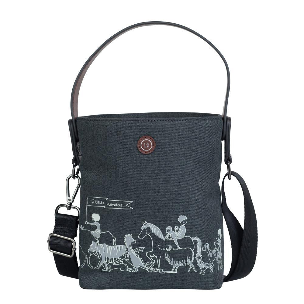 12Little x Sarah Jane Parade Bottle Bag In Charcoal