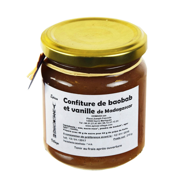 Epices Village Confiture Baobab Vanille 210g