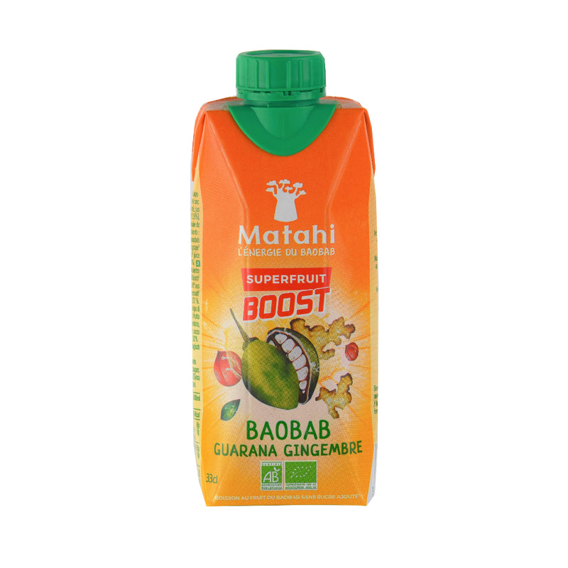 Matahi Boost Baobab Guarana Gingembre Bio 33cl