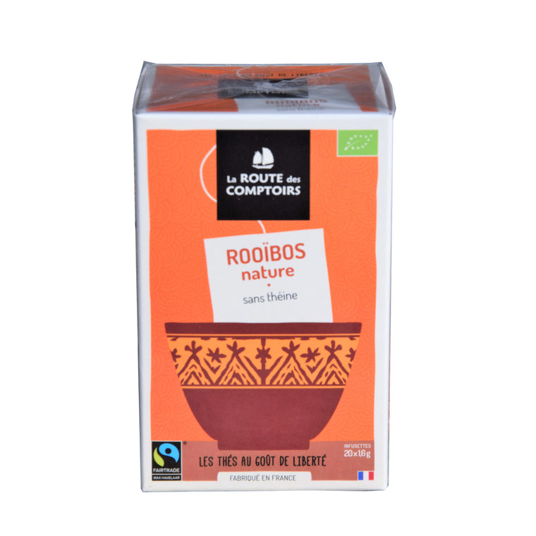 Route des Comptoirs Thé Rooïbos Nature Bio Equitable boite 20 infusettes