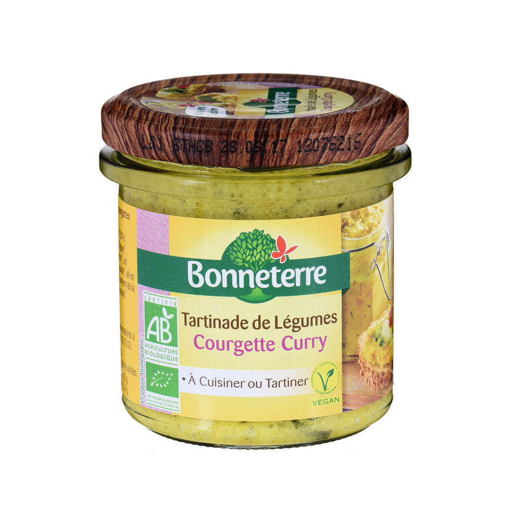Bonneterre Tartinade de Légumes Bio - Courgette curry 135g