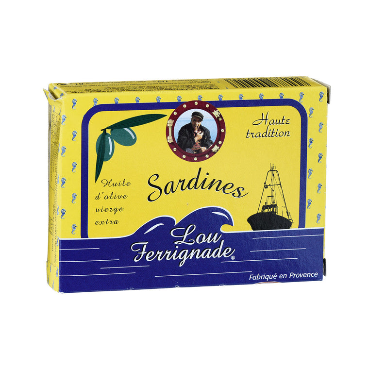 Lou Ferrignade SARDINES A L'HUILE D'OLIVE VIERGE EXTRA BOITE 1/6 – 115 G – 125 ML