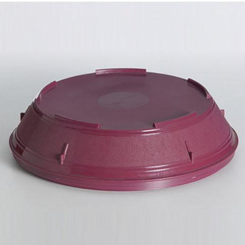 6PCE Ken Hands Plate Cover Insulated Pp Burgundy (1) 98002
