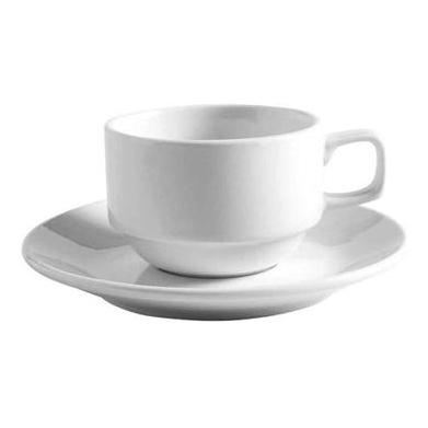 36PCE Bistro Stackable Tea Cup 160ml 110mm x W85mm x H58mm