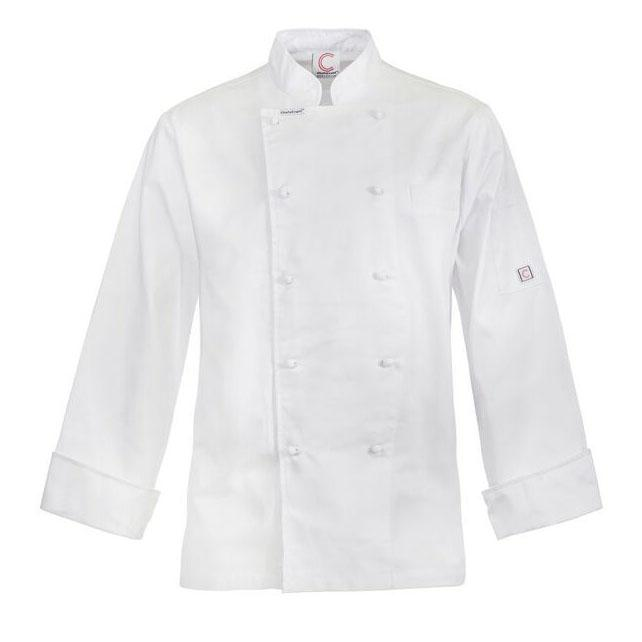 ChefsCraft Lightweight Classic Chefs Jacket L/S White M CJ048