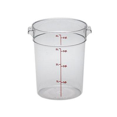 12PCE Camwear Food Storage Container Round 3.8L Clear (135) RFSCW4