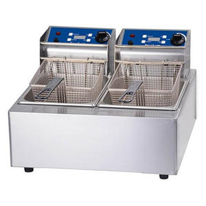 Birko Double Pan Bench Top Fryer 2 x 5Ltr 1001002 - icegroup hospitality superstore