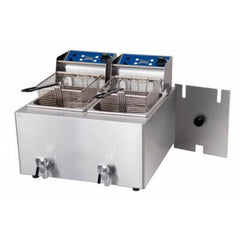 Birko Double Pan Bench Top Fryer 2 x 8Ltr - icegroup hospitality superstore