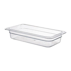 6PCE Cambro Polycarb GN 1/3 Container 65mm Clear 32CW135