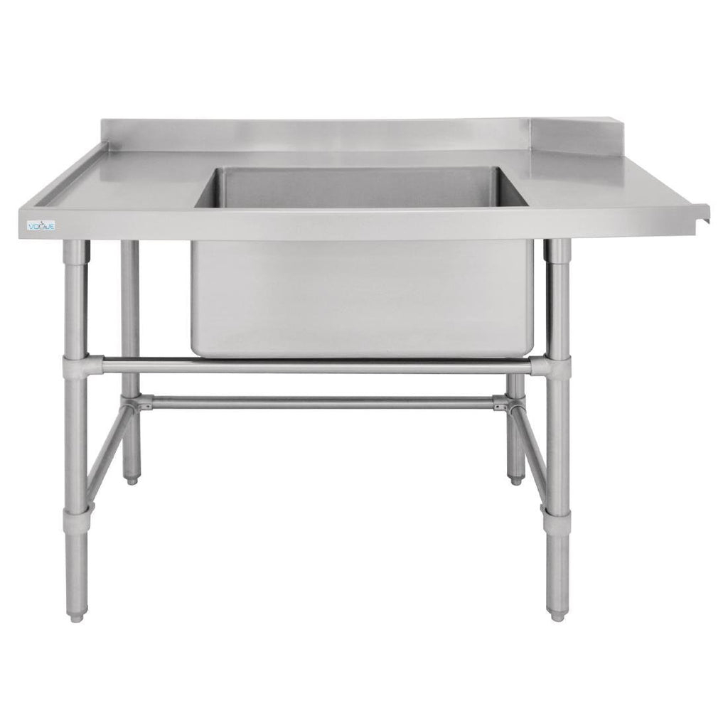 Vogue Dishwasher Inlet Table with Sink 90mm outlet - 1800mm