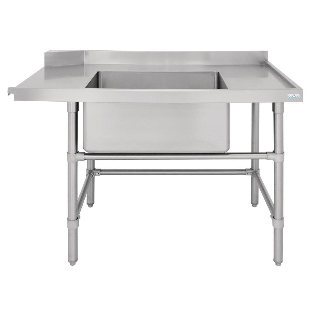 Vogue Dishwasher Inlet Table with Sink 90mm outlet