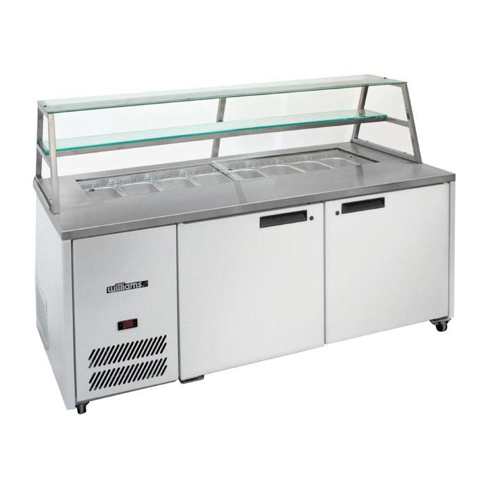 Williams 2 Door Sandwich & Prep Counter With Canopy HJ2SCBA Stainless Steel