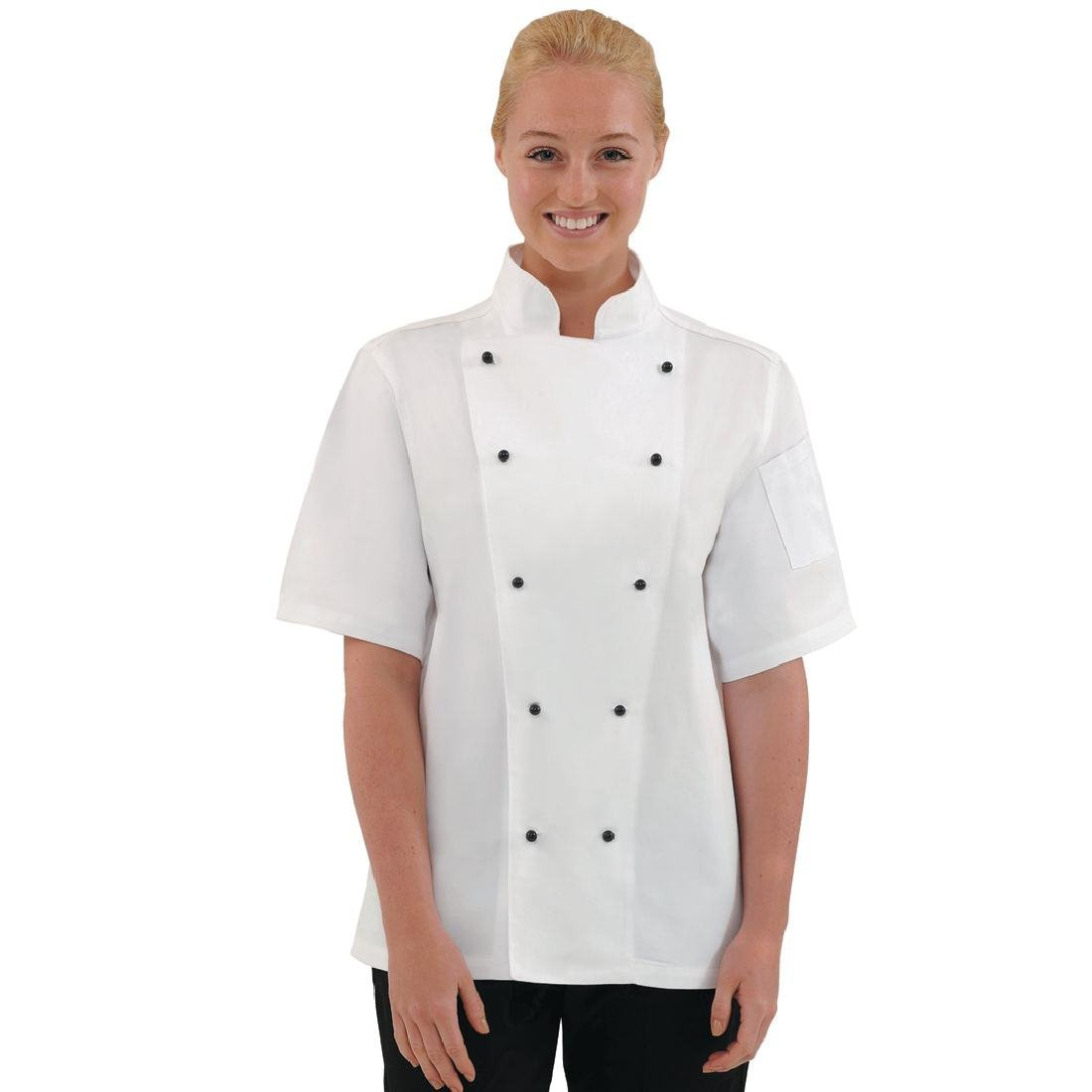 Busy White Short Sleeve Ladies Jacket