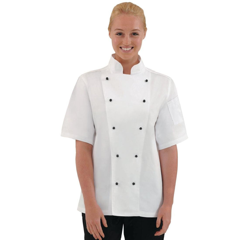 Whites Chicago Chefs Jacket Short Sleeve White S