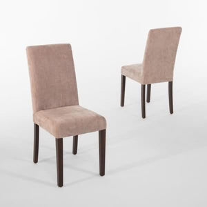 2PCE Bolero Dining Chairs Beige