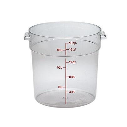 6PCE Camwear Food Storage Container Round 17.2L Clear (135) RFSCW18