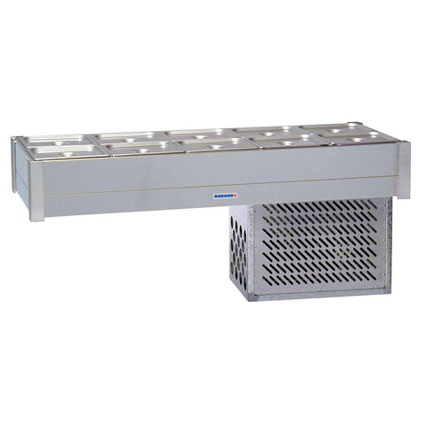 Roband Refrigerated Bain Marie 4 x 1/2 Size Double Row BR22