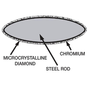 Vogue Diamond Sharpening Steel 30.5cm