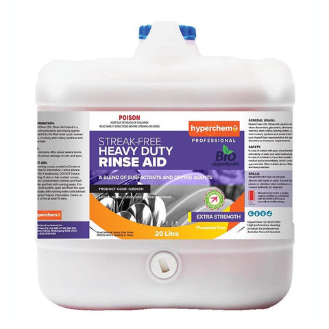 Hyperchem Heavy Duty Rinse Aid 20L 14003