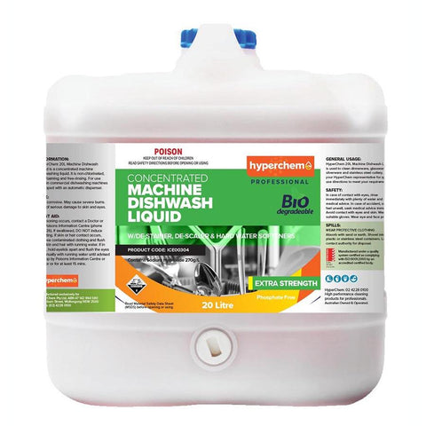 Hyperchem Concentrated Machine Dishwash Liquid 20L 12803 - ICE Group HospitalityWarehouse