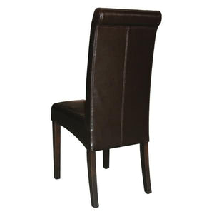 2PCE Bolero Curved Back Leather Chairs