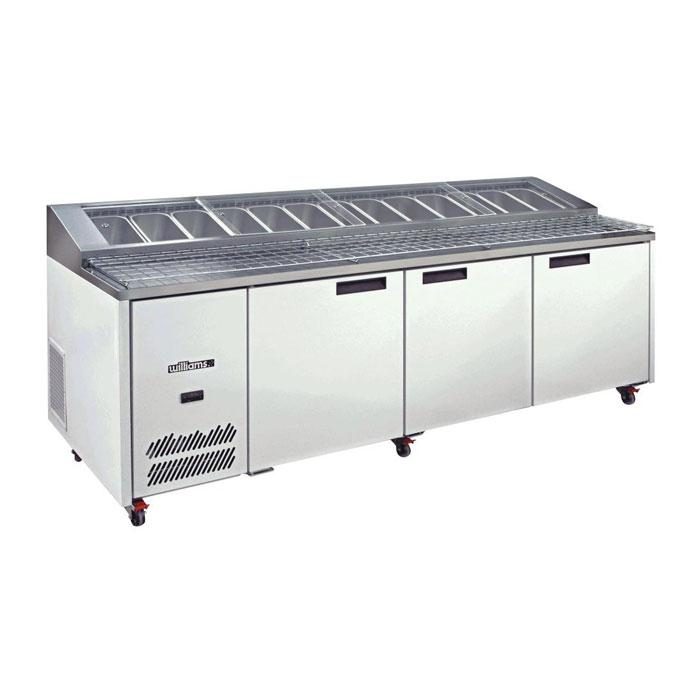 Williams 3 Door Pizza Preparation Counter HJ3PCBA Stainless Steel