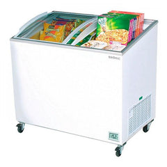 Bromic CF0300ATCG Angle Top Curved Glass Chest Freezer 264L - ICE Group