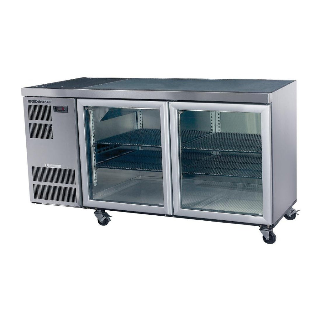 Skope CL400 Counterline 2 Glass Door Counter Fridge