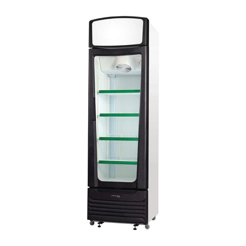 Skope Serene Single Door Upright Display Fridge SC400 - ICE Group Hospitality Warehouse