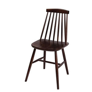 2PCE Fameg Farmhouse Angled Sidechair Walnut Effect