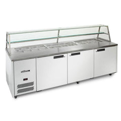 Williams 3 Door Sandwich & Prep Counter With Canopy HJ3SCBA Stainless Steel