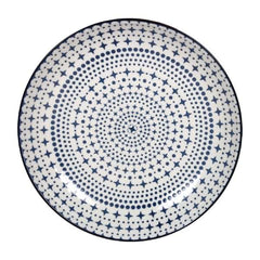 3PCE Gusta Out Of The Blue Star Flared Round Bowl 215mm