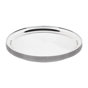 Olympia 355mm Stainless Steel Round Serving Tray